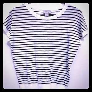 Ann Taylor LOFT Outlet Knit Striped Top Small